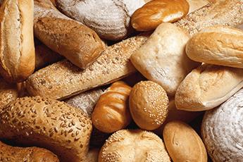 Masse forskjellig brød