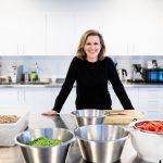 Anne Kristin Vie mat i barnehage.Foto