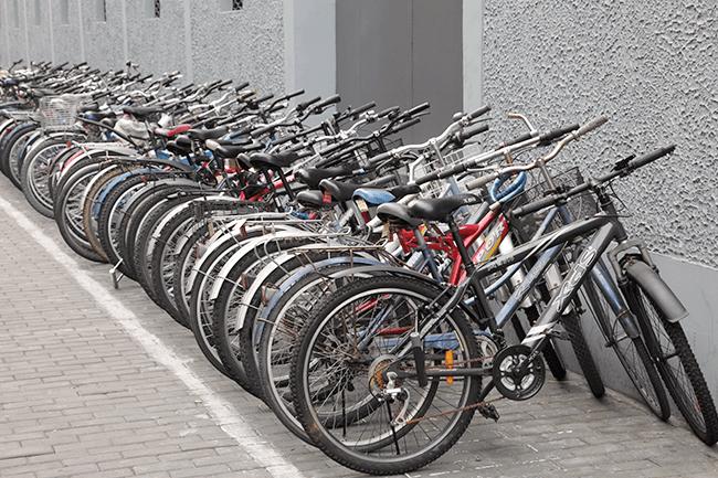 Sykkelparkering.Foto.