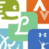 Samling av app-ikoner.grafikk.