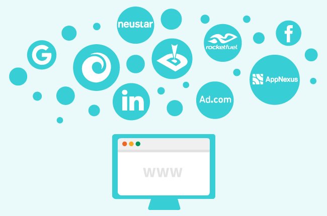 Logoer til trackere på nett.foto