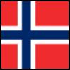 Norge, flagg. Illustrasjon.