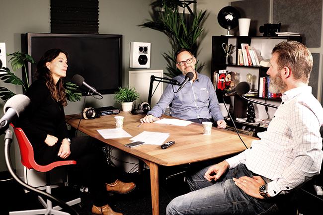 Studio til podkast.Foto