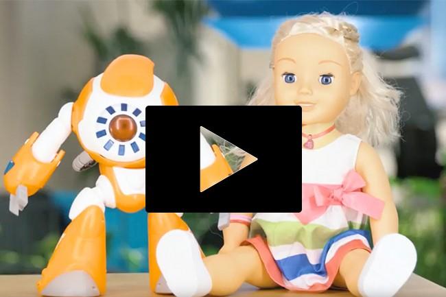 Internett-tilkoblede leker.Foto