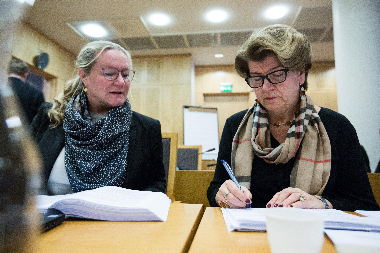 Direktør Randi Flesland og juridisk direktør Marianne Uppmann i Oslo tingrett.foto