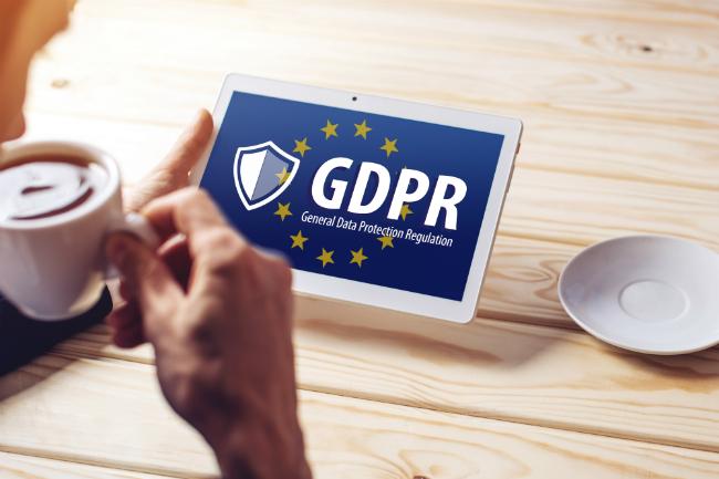 Pad med GDPR-logo.foto