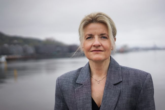 Forbrukerdirektør Inger Lise Blyverket på Havnepromenaden