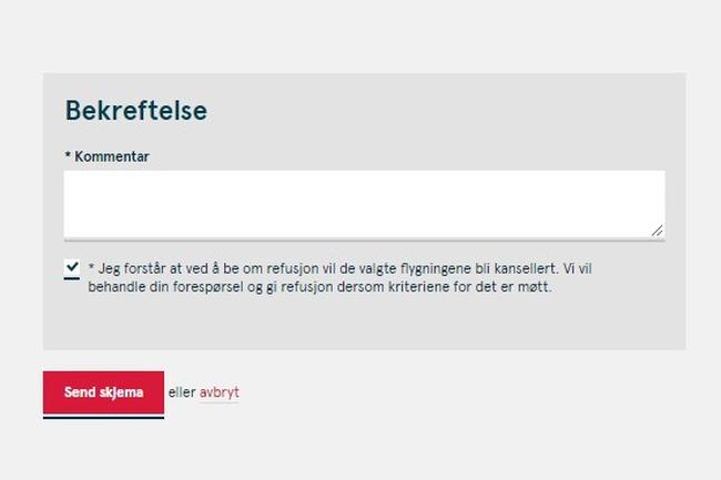 Faksimile refusjonsordning Norwegian